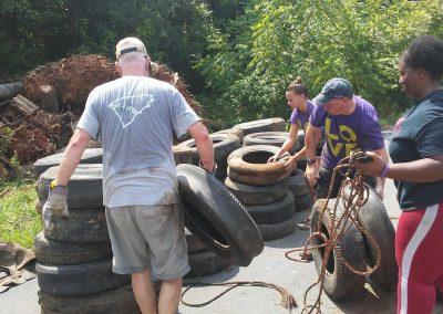 Sugar Creek Cleanup July 14, 2018 1